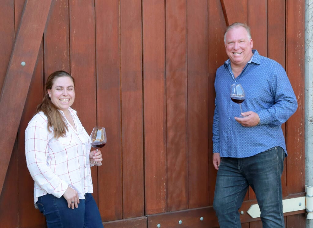 Angelina Mondavi of Harlow Cellars and Craig Haserot of Sojourn Cellars. Photo: Sojourn Cellars.